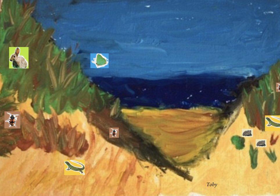 Paint a dunescape, by Toby (age 10)