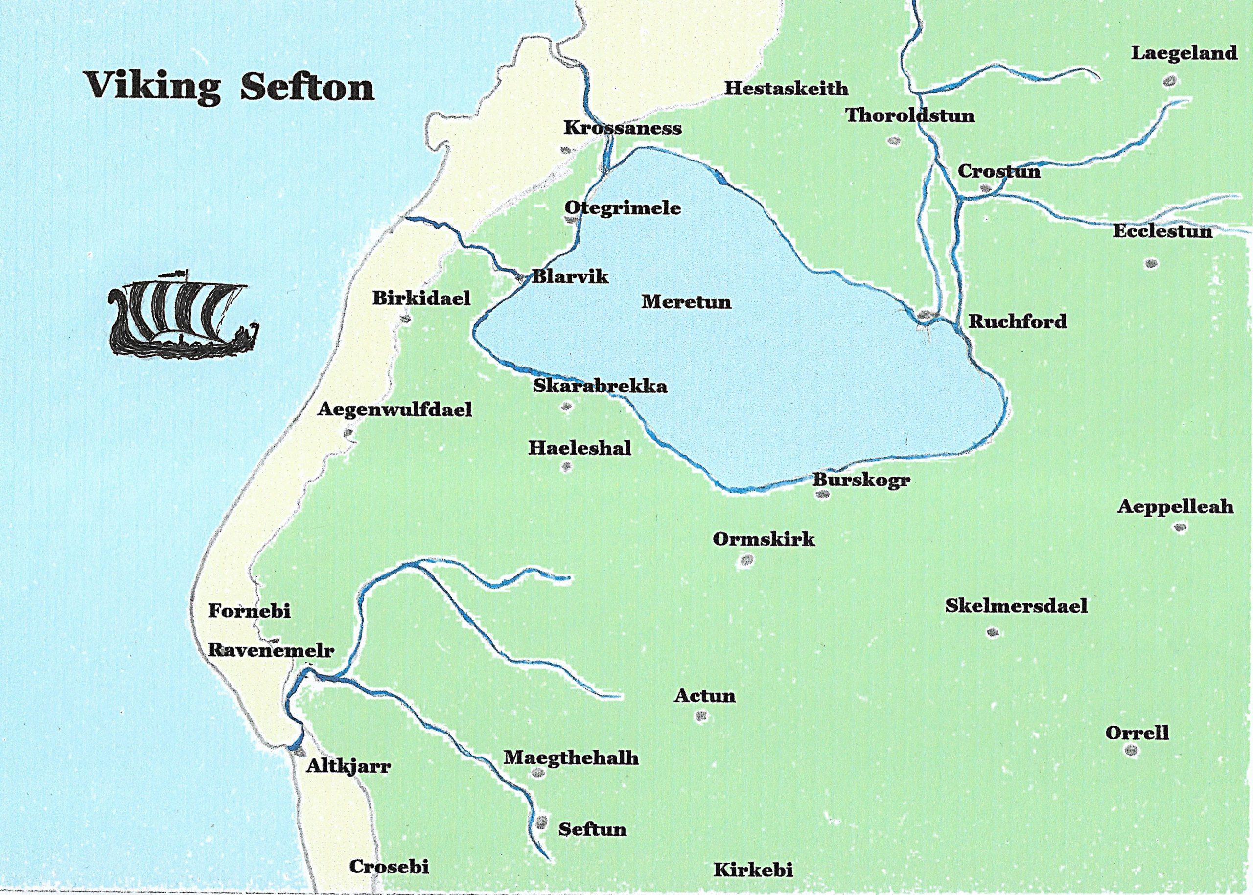 Viking Sefton Map