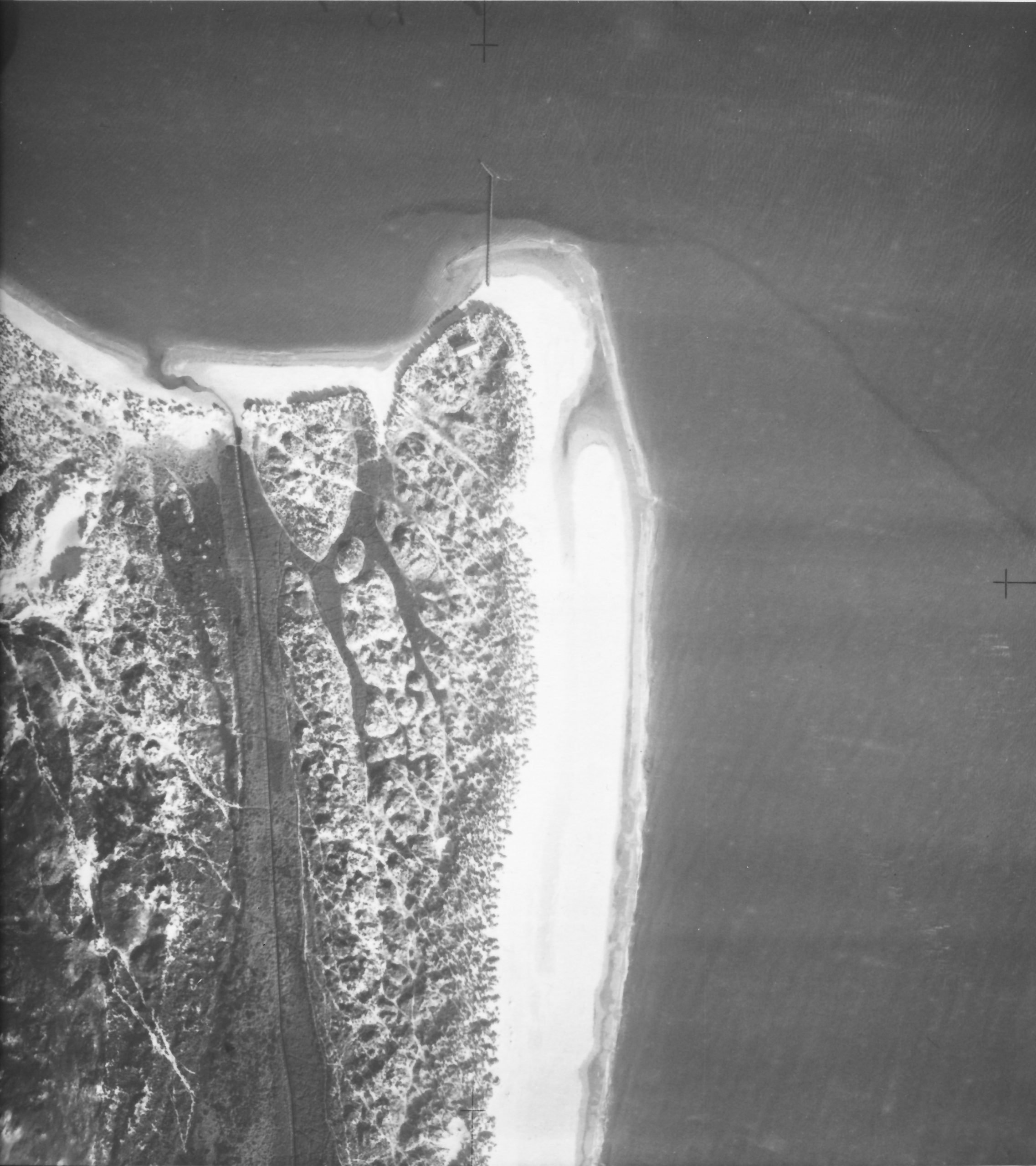 Aerial photograph of Studland Bay from 1930s