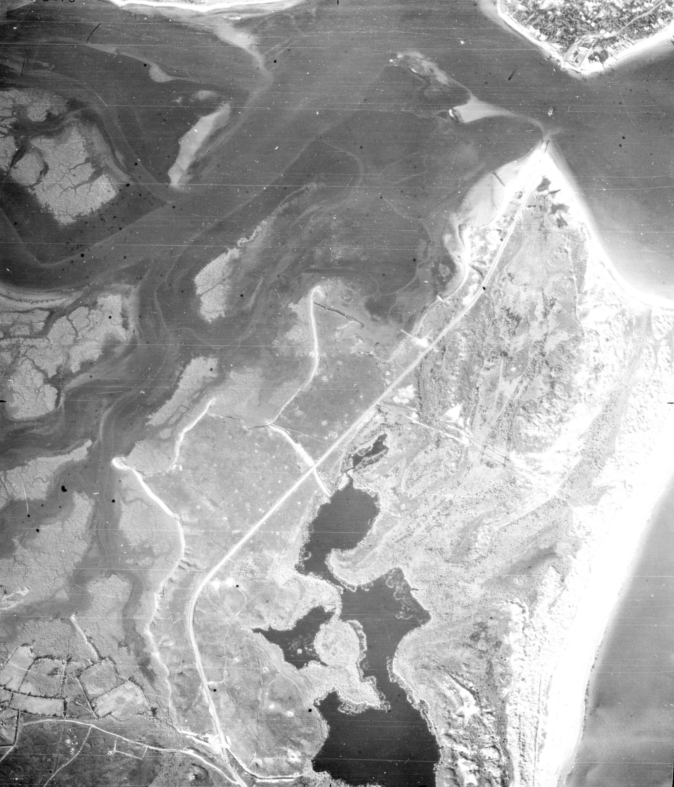 aerial photograph of Studland Bay from 1947