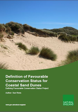 Cover image of the report: Definition of Favourable Conservation Status for Coastal Sand Dunes (RP2942)