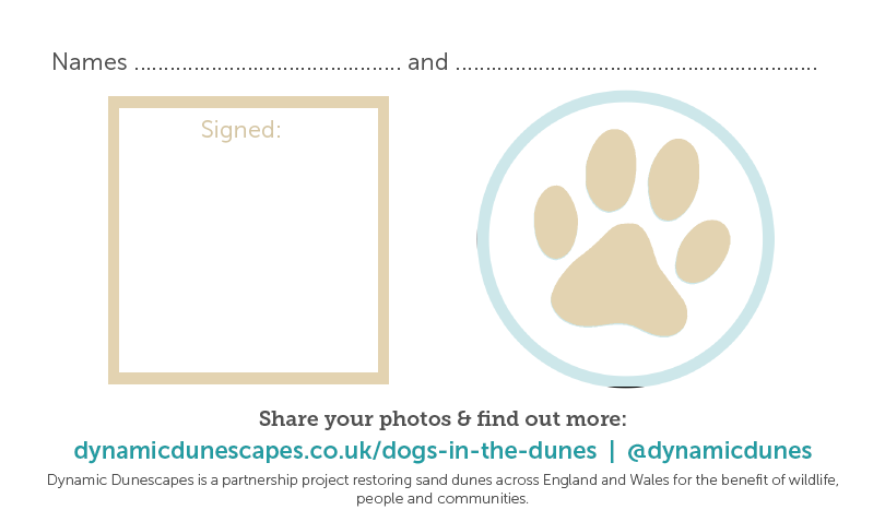 screen-grab of the pdf of the dog pledge where owner and dog can sign their names or place a pawprint