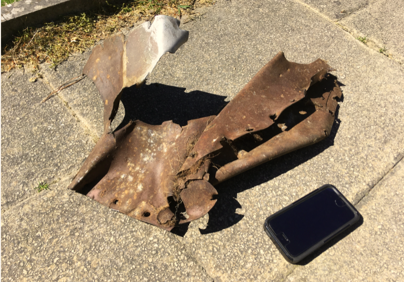 The piece found in Sefton. Image: Nick Wotherspoon